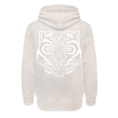 The Parvati Cat by Stringhedelic - White - Unisex Shawl Collar Hoodie