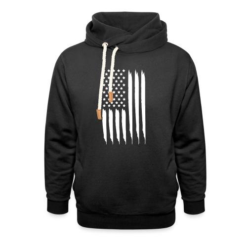 EEUU flag - Sudadera con capucha y cuello alto unisex
