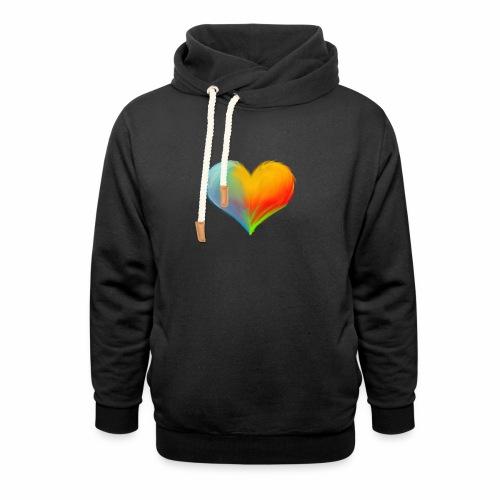 Hart - Unisex sjaalkraag hoodie
