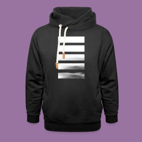 Stripes Horizontal White - Felpa con colletto alto