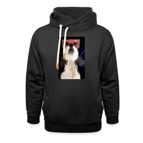 She and jack russell terrier - Bluza z szalowym kołnierzem unisex