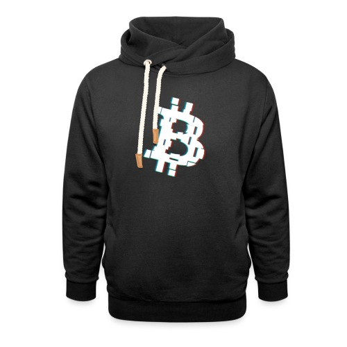Glitched Bitcoin - Shawl Collar Hoodie