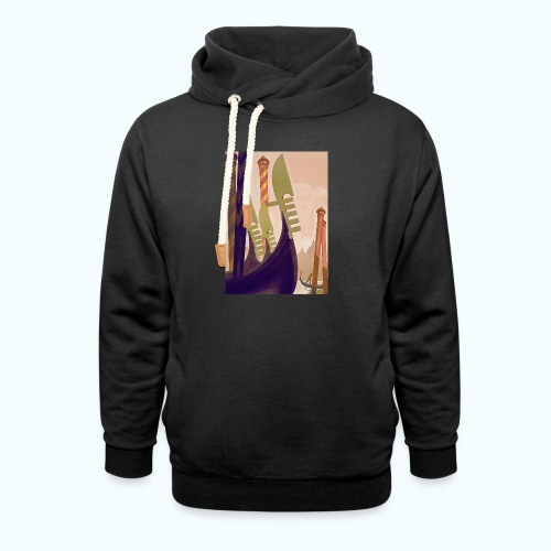 Venice vintage travel poster - Shawl Collar Hoodie