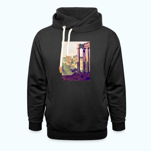 Rome Vintage Travel Poster - Shawl Collar Hoodie