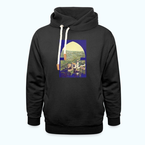 Tuscany vintage travel poster - Shawl Collar Hoodie
