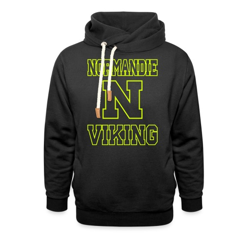 Normandie Viking Def jaune - Sweat à capuche cache-cou