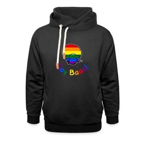 Homosexuell Baaa! Pride Sheep (schwarze Ausgabe Regenbogentext) - Schalkragen Hoodie