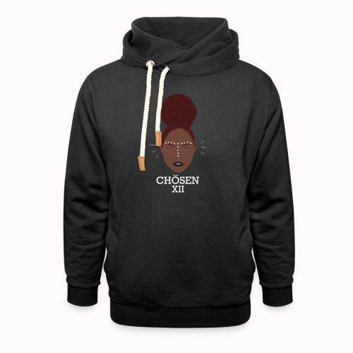 Edgy Ebony - Unisex sjaalkraag hoodie