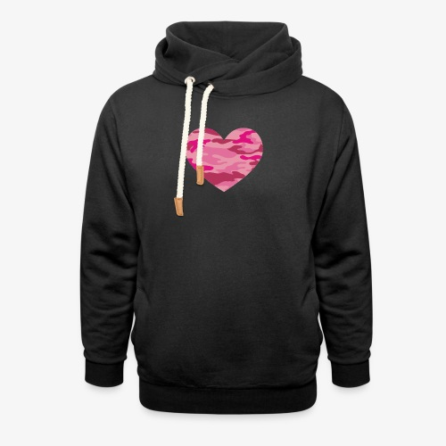 Camouflage My Heart - Shawl Collar Hoodie