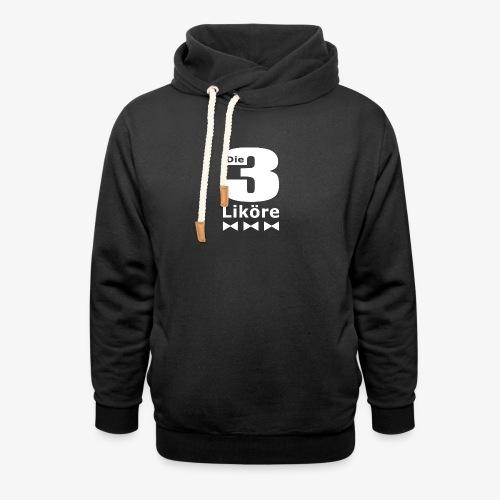 Die 3 Liköre - logo weiss - Unisex Schalkragen Hoodie
