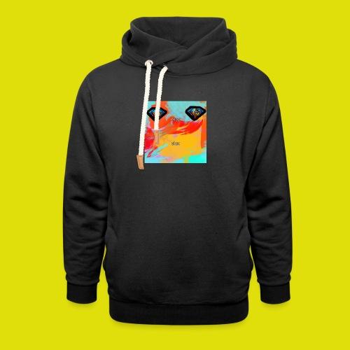 grey hoodie youtube logo - Shawl Collar Hoodie