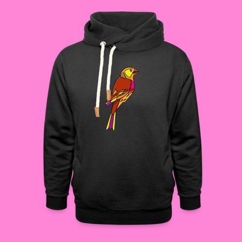 Geelgors illustratie - Unisex sjaalkraag hoodie