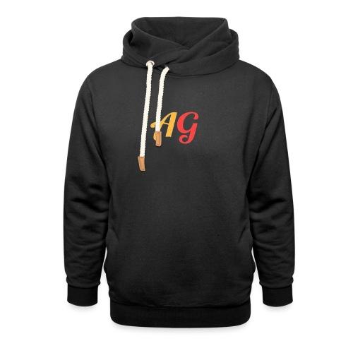 Gekleurde letters - Unisex sjaalkraag hoodie