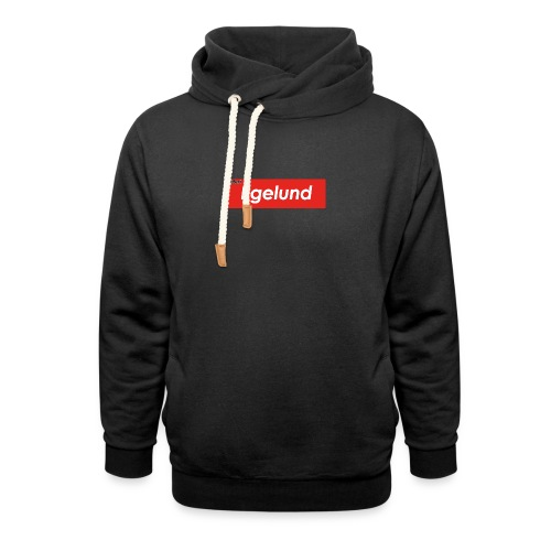 Albert Egelund Box Logo - Unisex hoodie med sjalskrave
