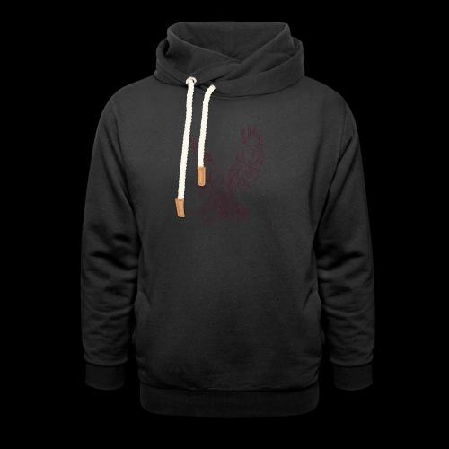 Eagle circuit - Unisex hoodie med sjalskrave