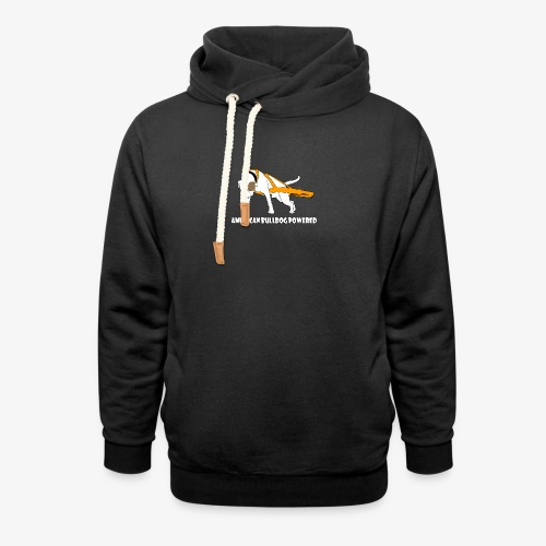 American Bulldog powered - Shawl Collar Hoodie