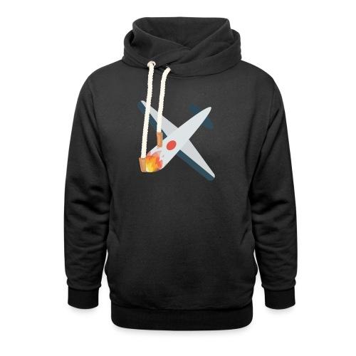 Falling Plane - Unisex Shawl Collar Hoodie
