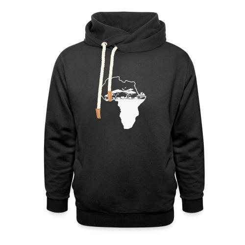 Savane Afrique logo Blanc - Sweat à capuche cache-cou unisexe