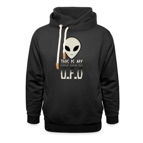 My Friend From The UFO - Shawl Collar Hoodie