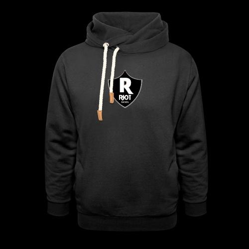 riot Nation logo schwarz - Unisex Schalkragen Hoodie