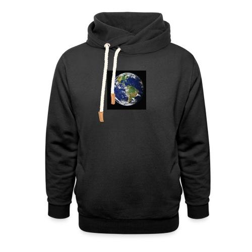 Wereld afdruk/print - Unisex sjaalkraag hoodie