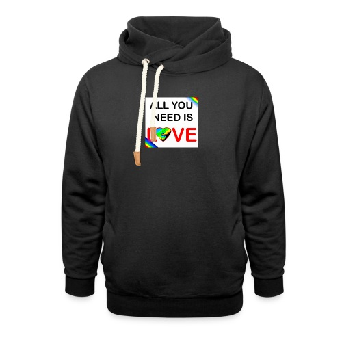 all you need is peace and love - Sweat à capuche cache-cou