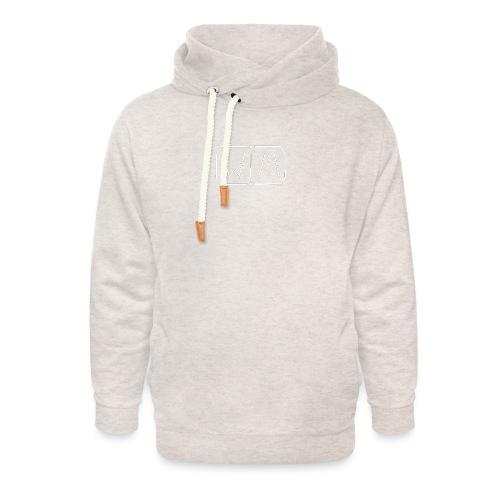 WIM white - Unisex sjaalkraag hoodie