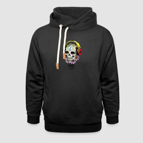 smiling_skull - Shawl Collar Hoodie