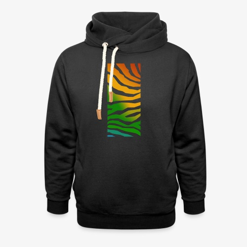 zebra - Luvtröja med sjalkrage