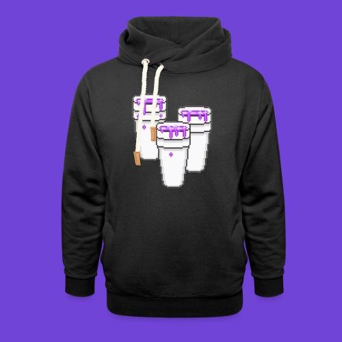 Purple - Felpa con colletto alto