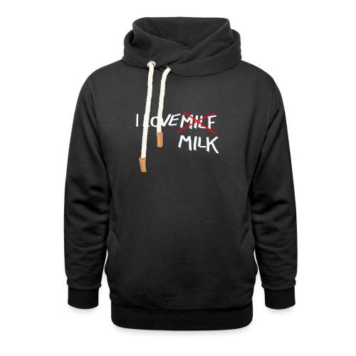 I Love MILK - Sjaalkraag hoodie