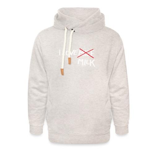 I Love MILK - Unisex sjaalkraag hoodie