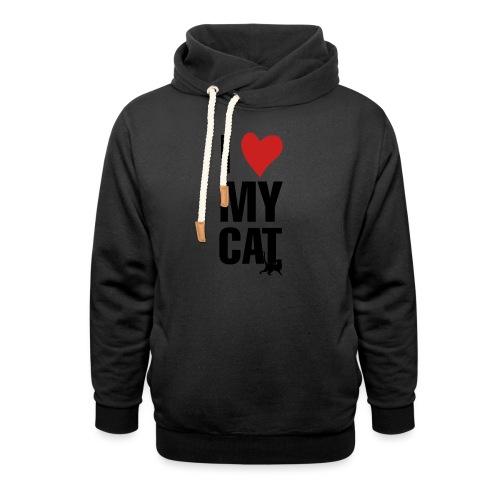 I_LOVE_MY_CAT-png - Sudadera con capucha y cuello alto
