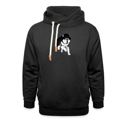 NolleDK - Unisex hoodie med sjalskrave