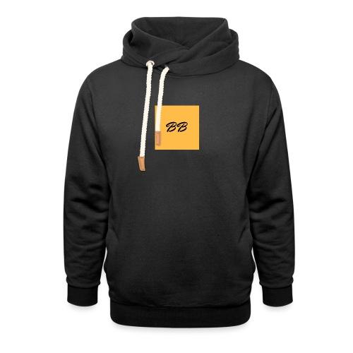 Logo - Unisex hoodie med sjalskrave