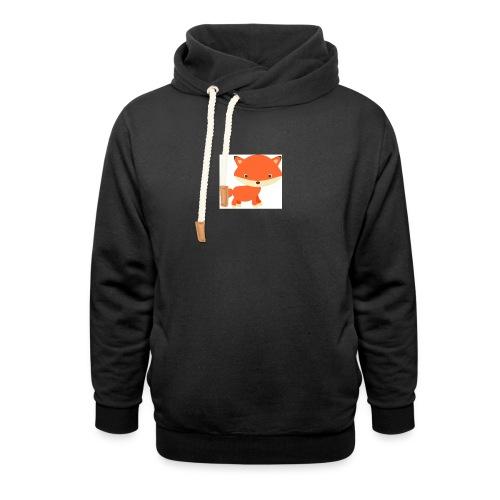 fox_1 - Sjaalkraag hoodie