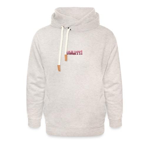 ACMATTI farverig - Unisex hoodie med sjalskrave