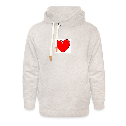 Love shirts - Unisex sjaalkraag hoodie