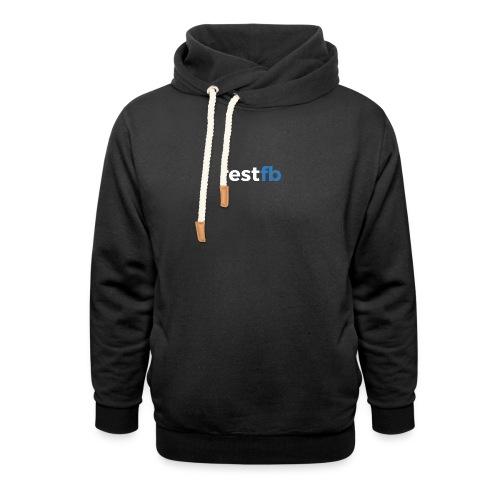 RestFB logo white - Shawl Collar Hoodie