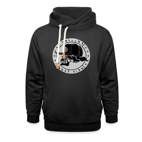 skull 13 milles noir et gris super design - Sweat à capuche cache-cou unisexe