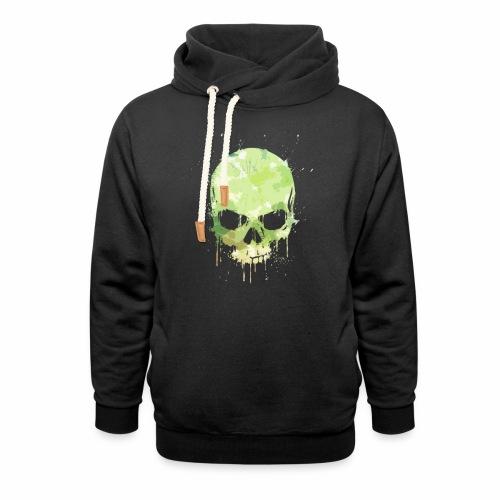 Skull Stain - Felpa con colletto alto