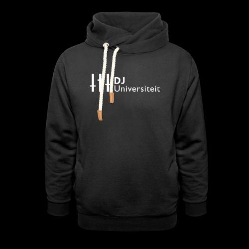 DJ-U (WIT) - Unisex sjaalkraag hoodie