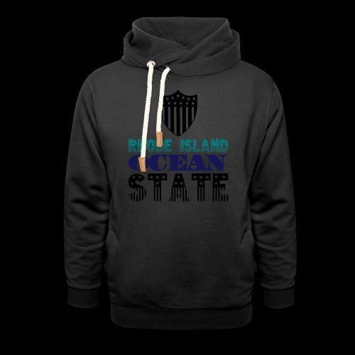 rhode island ocean state - Shawl Collar Hoodie