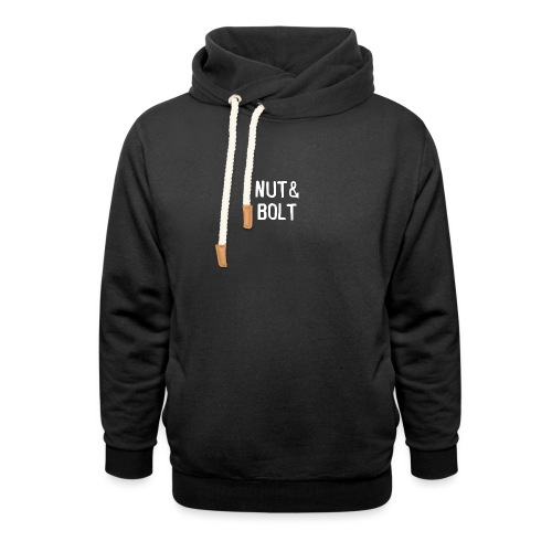 Brand Logo White by Nut & Bolt Apparel - Shawl Collar Hoodie