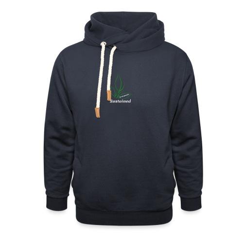 Sustained Sweatshirt Navy - Unisex hoodie med sjalskrave