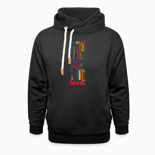 Pride Word Design - Shawl Collar Hoodie