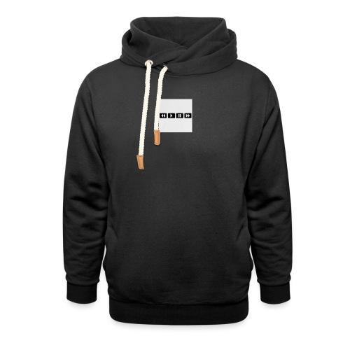 black-rewind-play-pause-forward-t-shirts_design - Unisex sjaalkraag hoodie