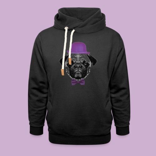 Mops Puppy - Schalkragen Hoodie