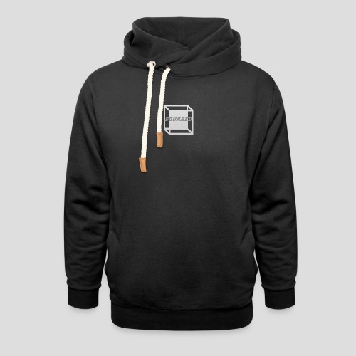 Squared Apparel Logo White / Gray - Unisex Shawl Collar Hoodie