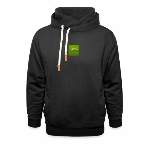 Raksos Logo - Unisex hoodie med sjalskrave